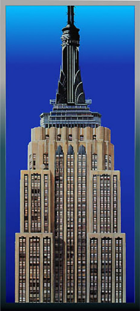 Richard Haas Empire State Building 1997, Lithograph and silkscreen on Aluminum. Signed. Numbered unframed