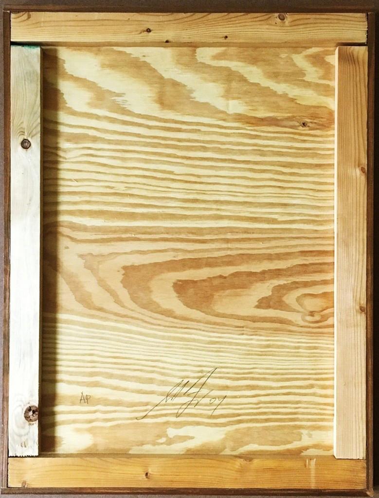 Shepard Fairey Bureau of Public Works, Original painting on wood, 2004