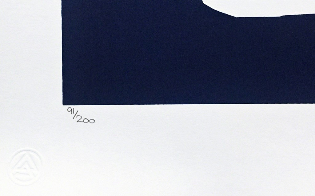 """RETNA Untitled Blue Silkscreen (from """"Provocateurs"""" for the Chicago Art Alliance) 2014, Silkscreen in colors on archival paper with deckled edges. Hand Signed. Numbered. Publisher's blind-stamp. Unframed."""