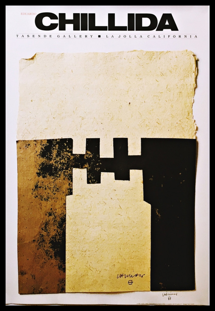 """Eduardo Chillida, """"CHILLIDA"""" (Hand Signed.) 1983, Offset Lithograph,  Hand Signed. Unframed. (from the Vogele collection)"""