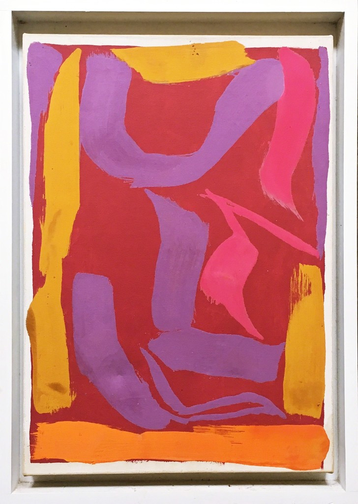 Ray Parker Untitled Abstract Expressionist Painting 1974, Acrylic on Canvas. Hand Signed. Dated. Framed with Fischbach gallery label verso.
