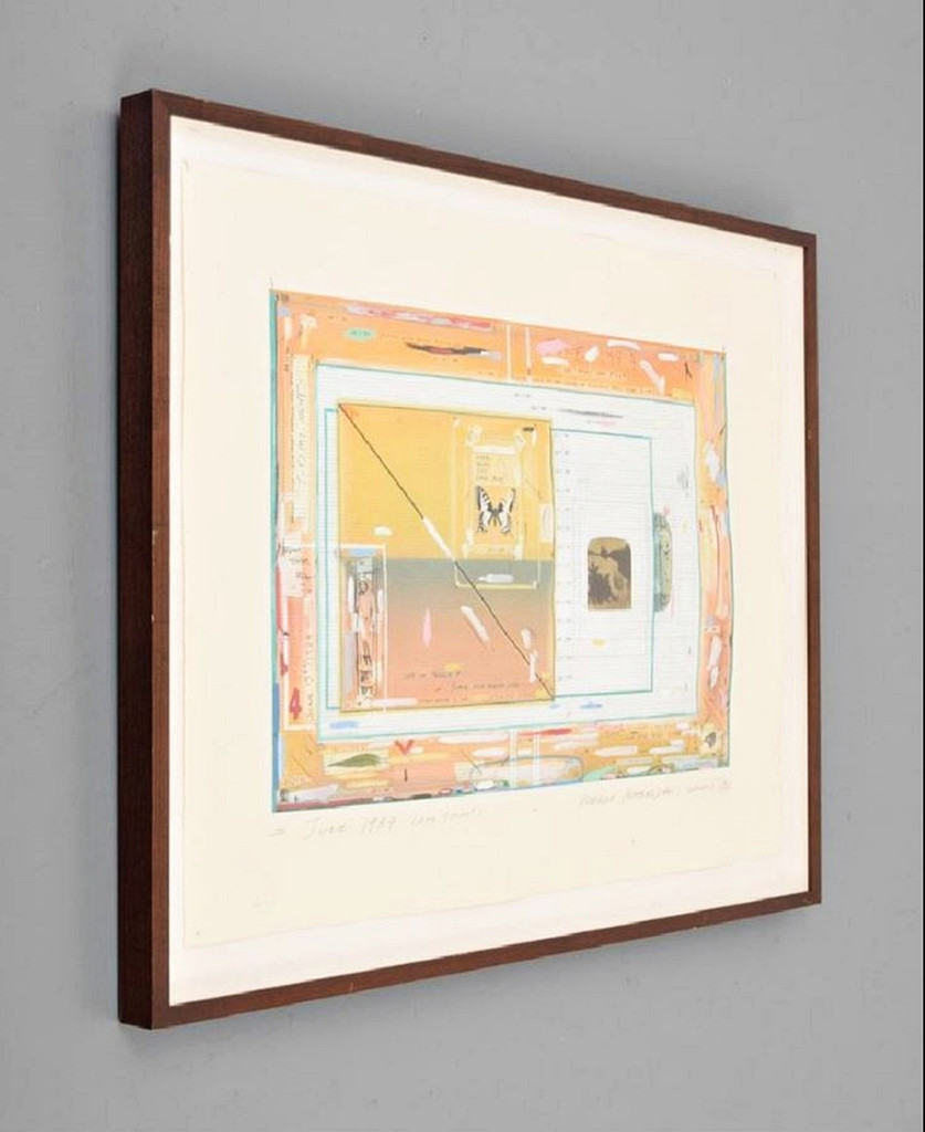 Robert Petersen June 1984 Color Study #1 1989, Lithograph on paper with deckled edges. Hand Signed in Pencil. Dated. Titled. Framed.