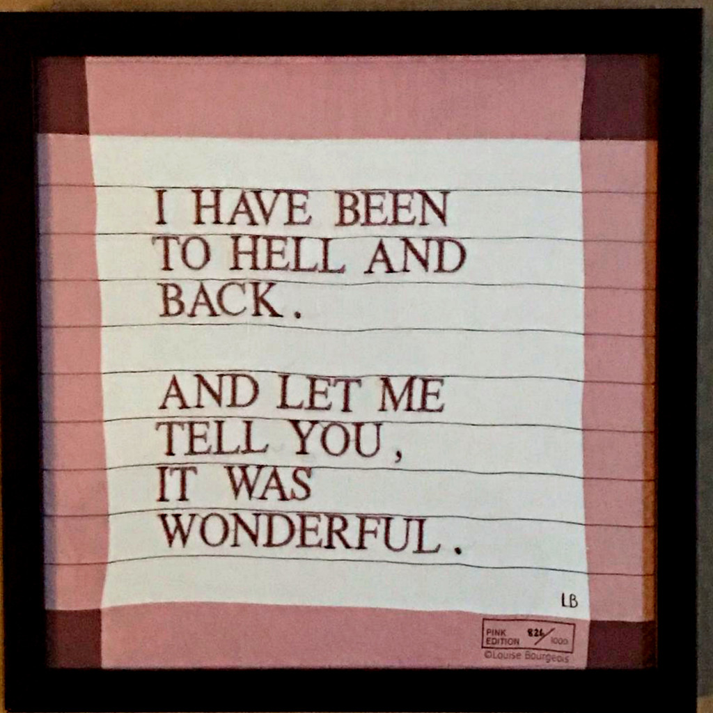 Louise Bourgeois, I Have Been to Hell and Back, 2007