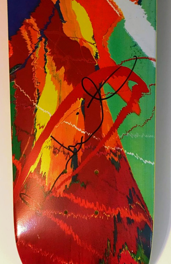 Damien Hirst, Yellow Spin Skate Deck  (Hand Signed by Damien Hirst), 2008