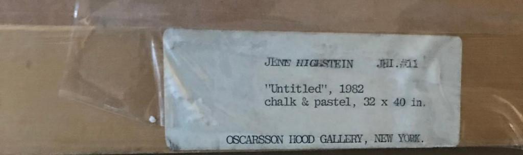 Jene Highstein, Untitled pastel and chalk painting , 1982