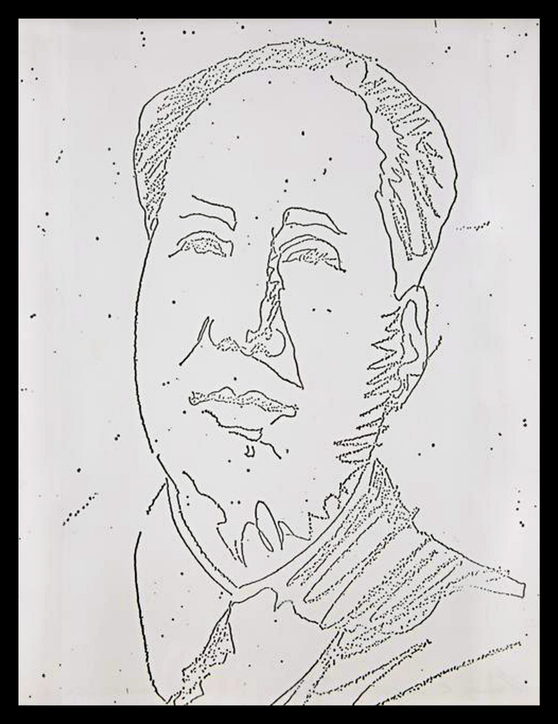 Andy Warhol, Mao from the New York Collection for Stockholm (F&S II. 89), 1973 Pigment print Sequential Xerox Print on Typewriter Paper. Pencil signed and numbered by Andy Warhol (unique variant)