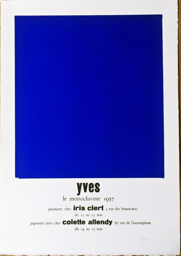 Yves Klein, Peintures Chez Iris Clert (Certified by Yves Klein Archives), 2015