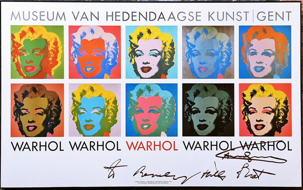 "Andy Warhol, Marilyn 1964, hand signed and inscribed ""to Beverly Hills Brat"" by Andy Warhol, ca. 1985"