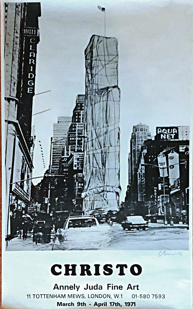 Christo, Offset Lithograph, Hand Signed, 1971