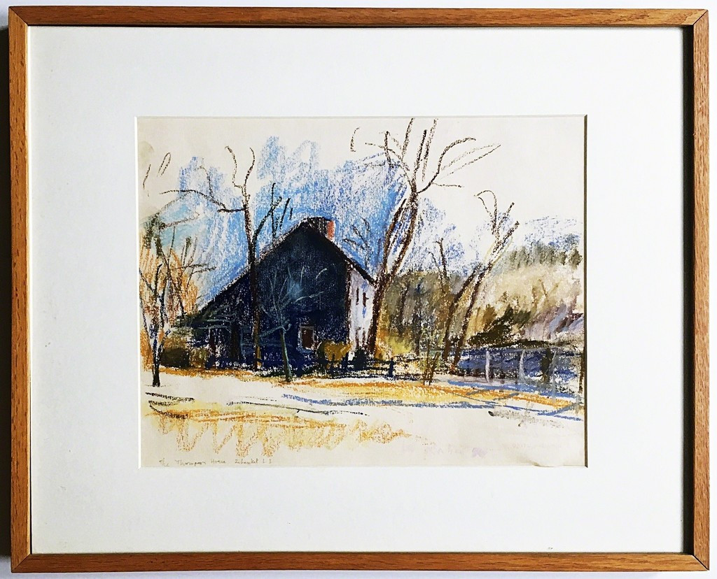 Wolf Kahn, Thompson House on Old Country Road, Setauket,  1990