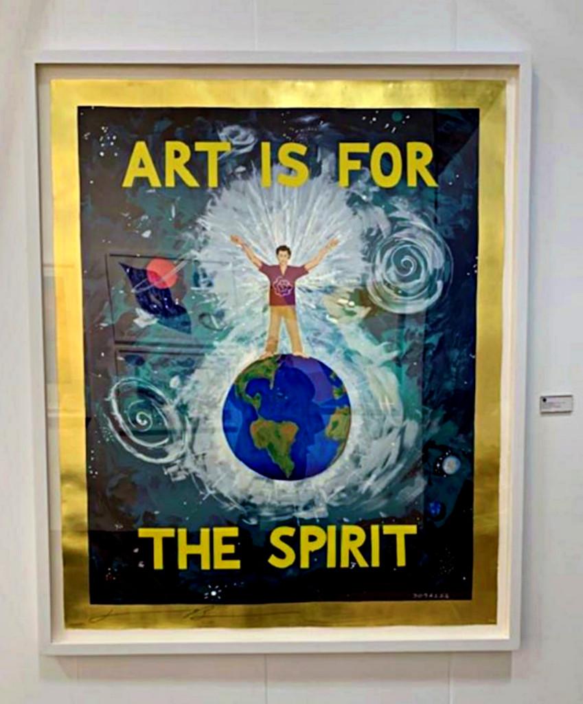 Jonathan Borofsky, Art is for the Spirit, 1989