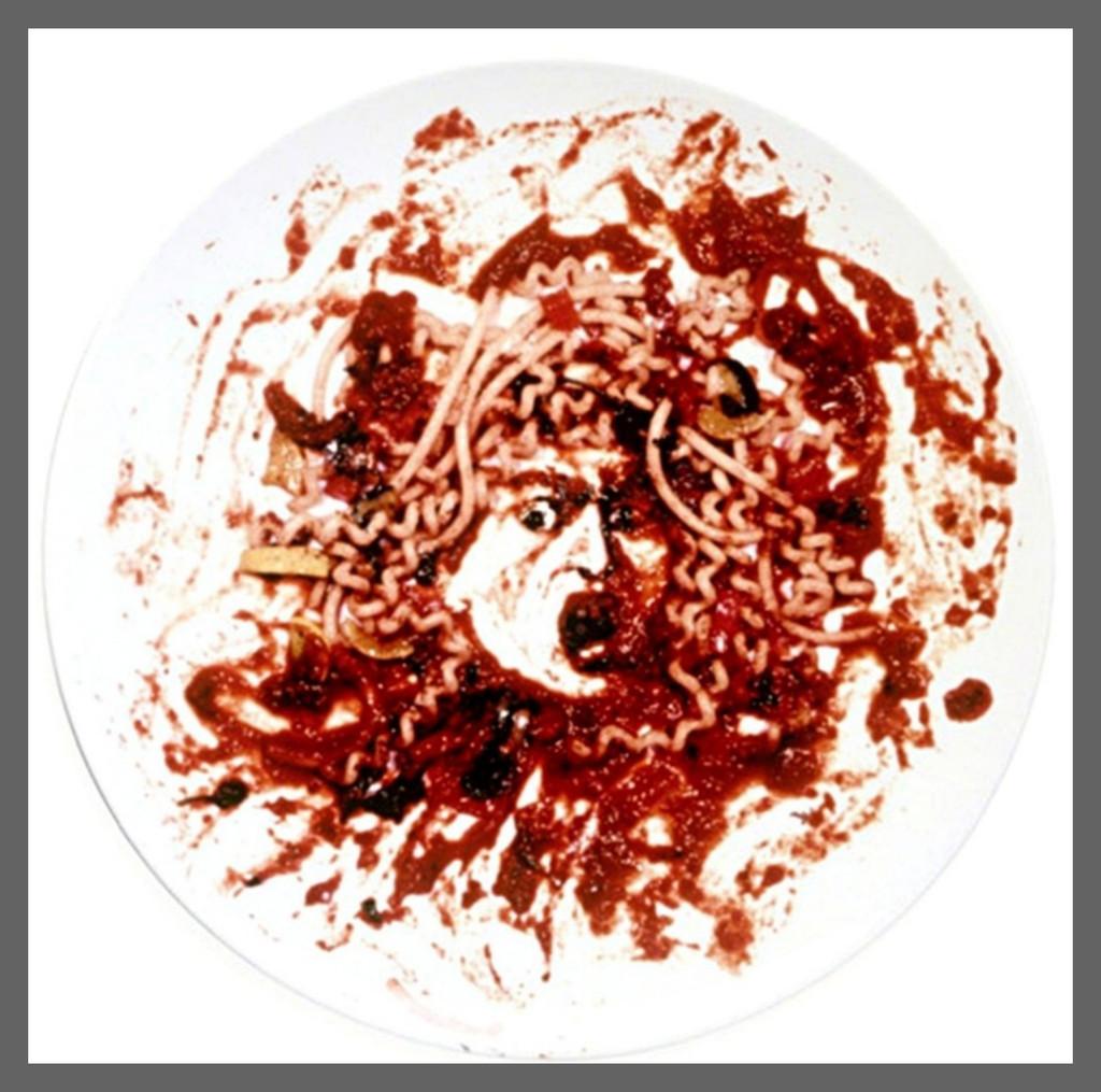 Vik Muniz, Medusa Marinara (Caravaggio's Medusa), 1999