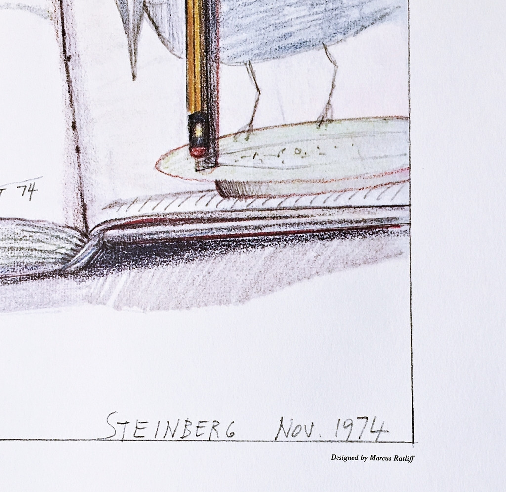 Saul Steinberg, Hirshhorn Museum and Sculpture Garden Exhibition, Hand Signed & Inscribed to the first director of the Hirshhorn Museum