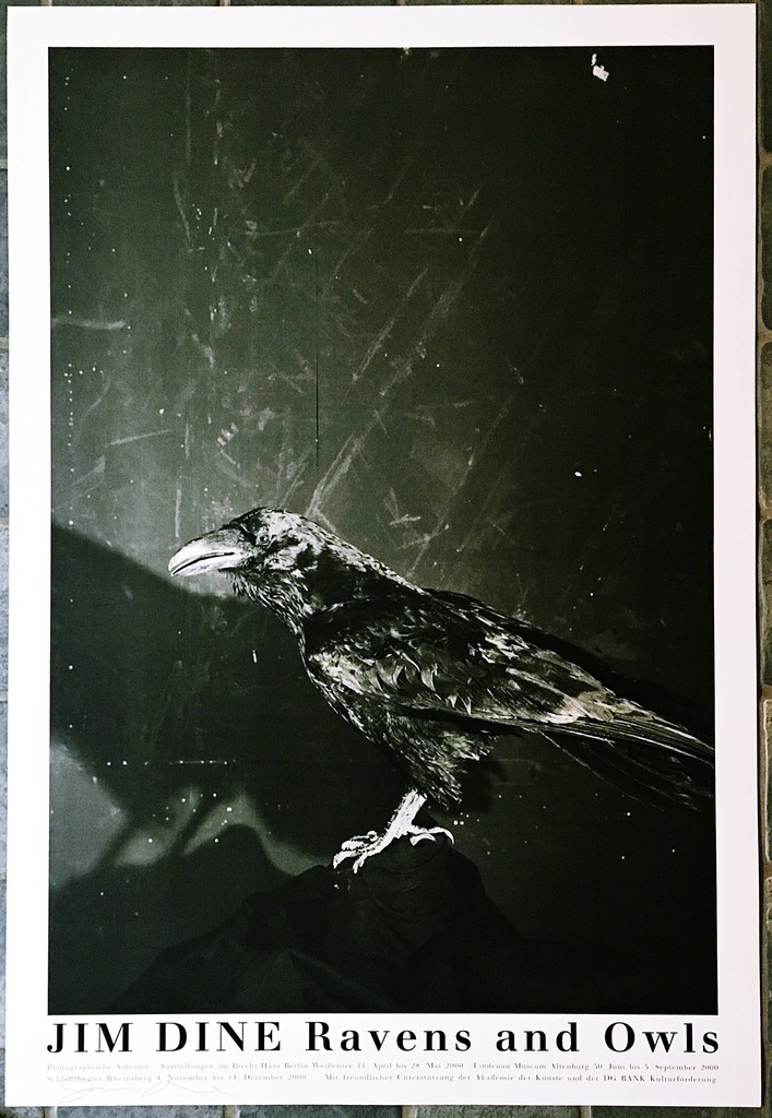 Jim Dine, Raven and Owls (Hand Signed), 2000