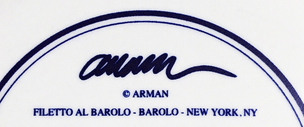 Arman, Filetto Al Barolo - Barolo - New York, NY, 1998