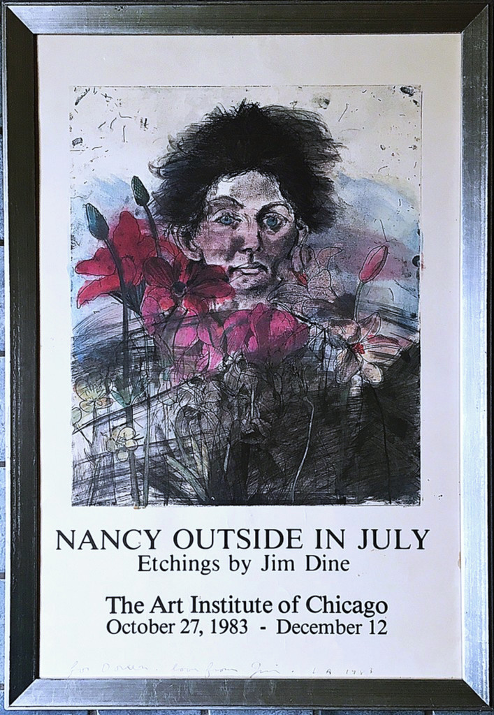 Jim Dine, Nancy Outside in July (Hand Signed & Inscribed to Doreen), 1983