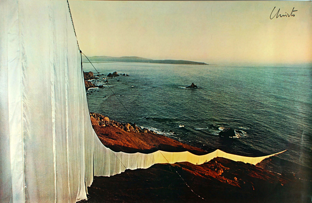 Christo, Running Fence, Offset Lithograph Poster, Hand Signed, 1976