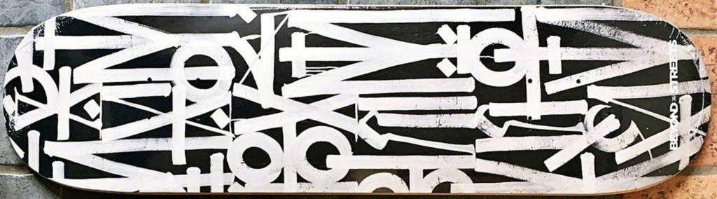 RETNA, Beyond the Streets: Limited Edition Skateboard (Black) with COA hand signed by RETNA, 2018 (Edition of only 100)