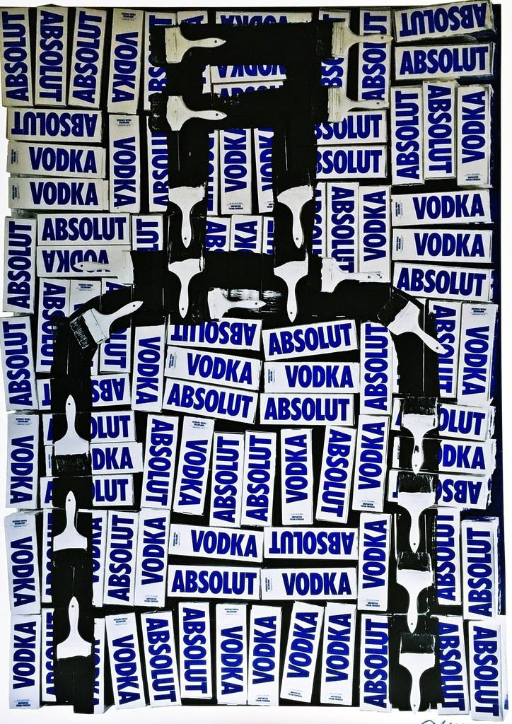 Arman, Absolut Vodka, 1990