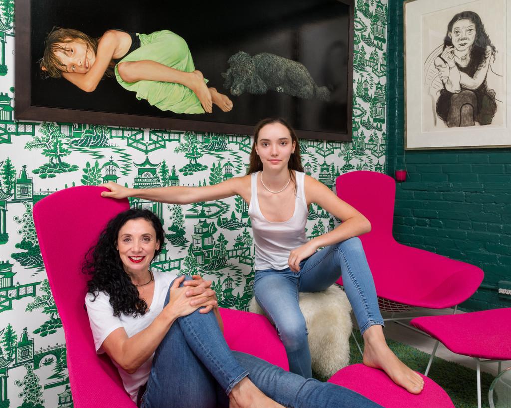Brenda Zlamany, Cashew and Oona, 2020