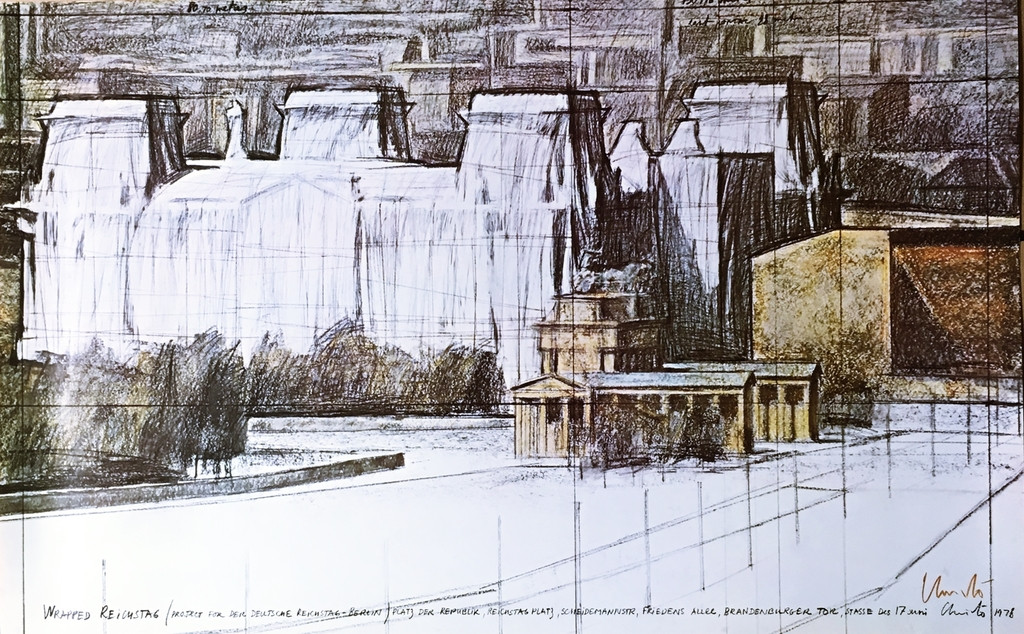 Christo, Wrapped Reichstag (Hand Signed), 1978
