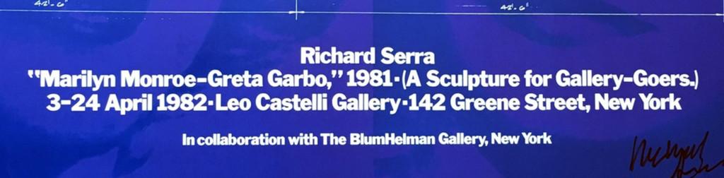 Richard Serra, Marilyn Monroe - Greta Garbo (Hand Signed), 1981-2014