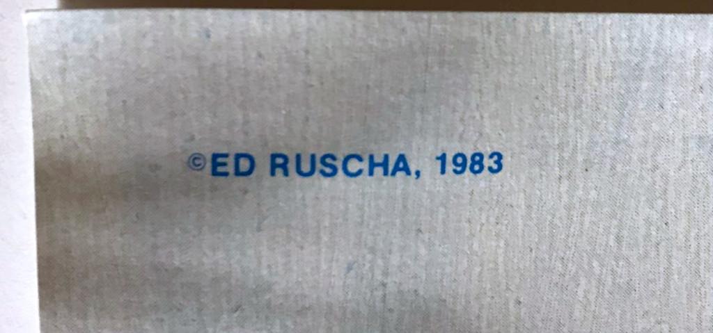 Ed Ruscha, America Needs Hart, 1983 (Hand Signed)
