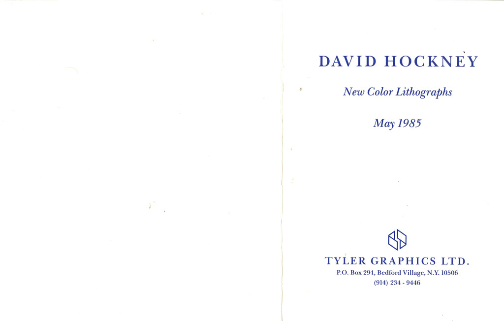 David Hockney, New Color Lithographs (Hand Signed), 1985