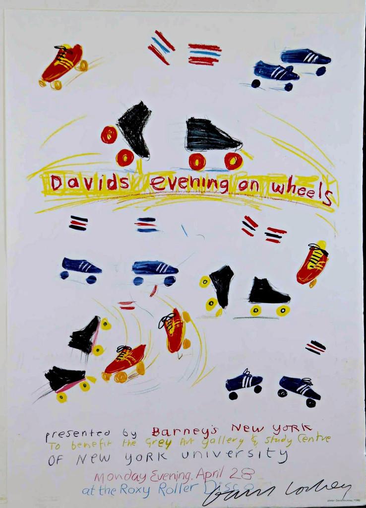 David Hockney, David's Evening on Wheels, (The Roxy, NYC) 1980