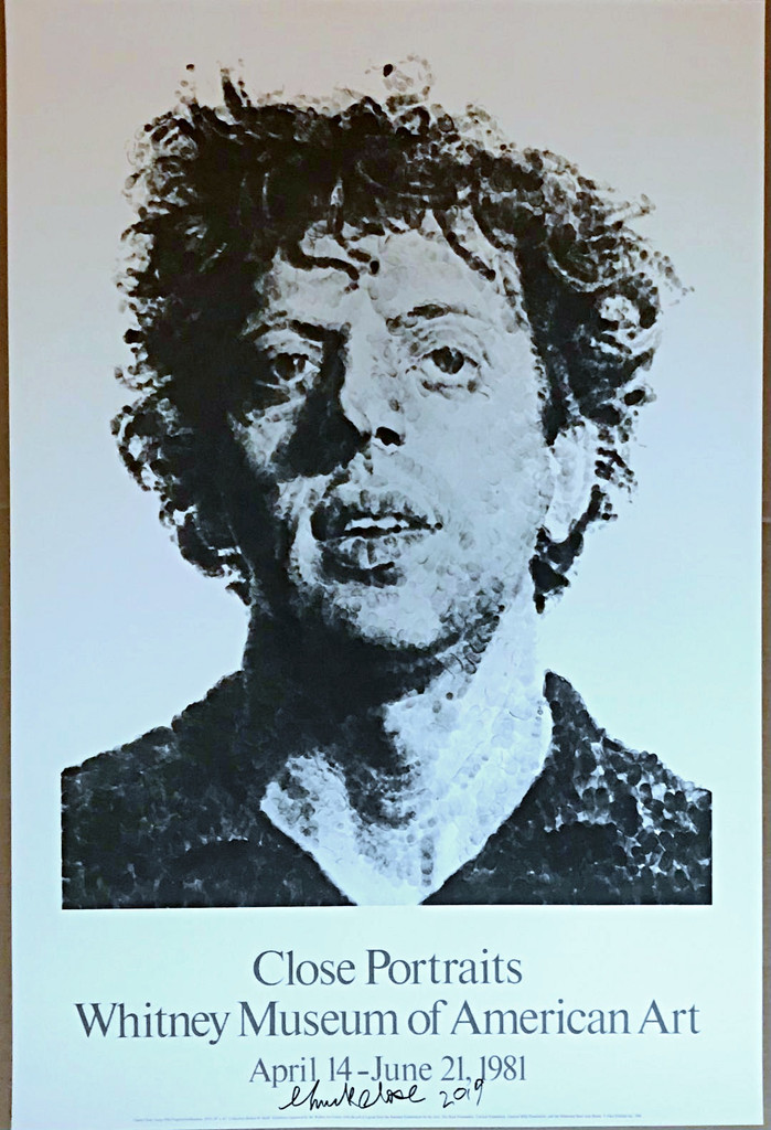 Chuck Close, Portraits, Whitney Museum (Hand Signed), 1981