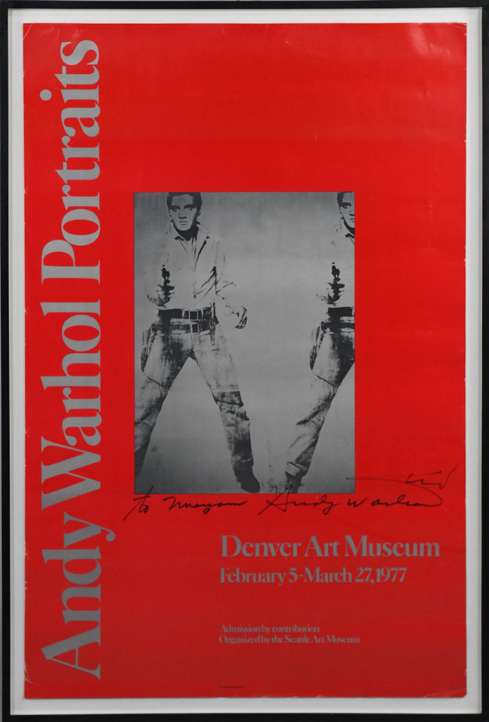 Andy Warhol, Andy Warhol Prints, 1977 (Inscribed and hand signed twice)