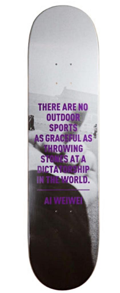 Ai Weiwei, F*?!k, Limited Edition Skateboard (Fuck)