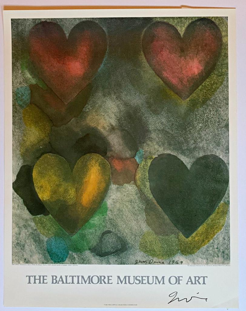 Jim Dine, Flo-Master Hearts (Hand Signed) , 1983