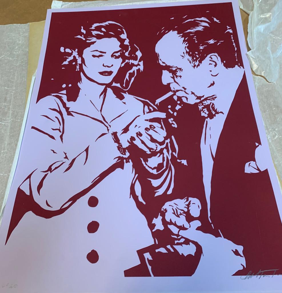 Bob Stanley, Lauren Bacall Lights Humphrey Bogart's Cigarette , 1966