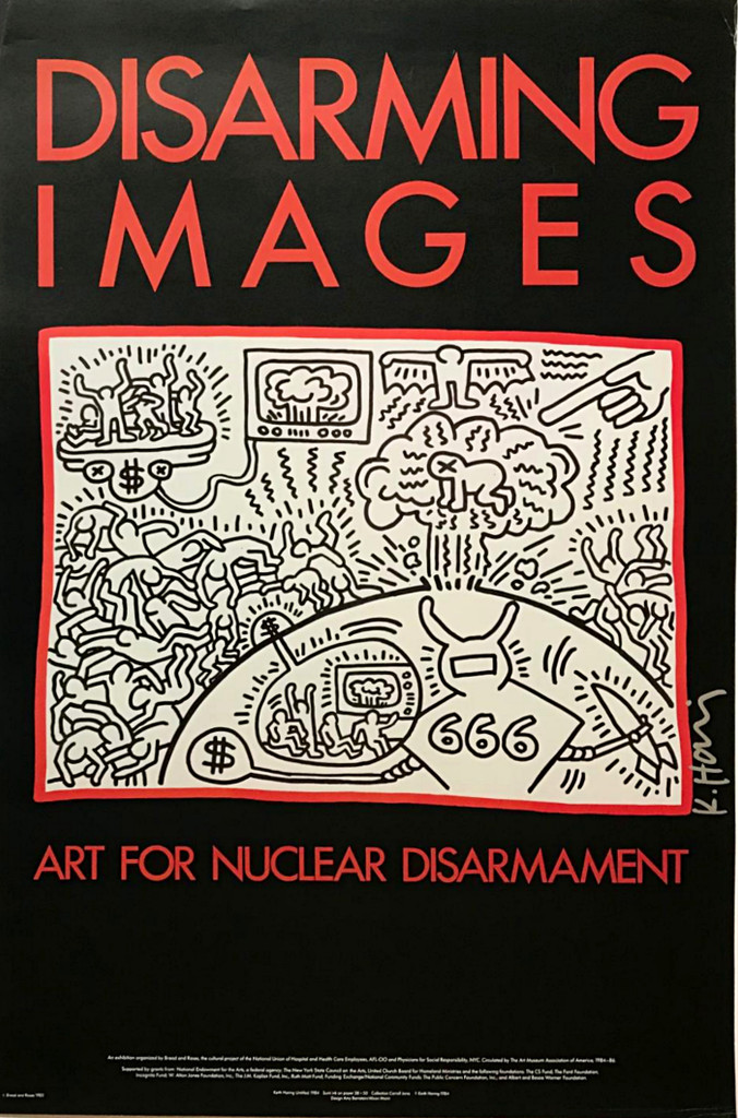 Keith Haring, Disarming Images Art for Nuclear Disarmament (Hand Signed), 1985