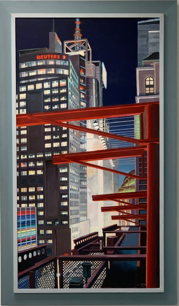 Richard Haas, 42nd Street at Night from the Multiplex Cinema Roof, 2008