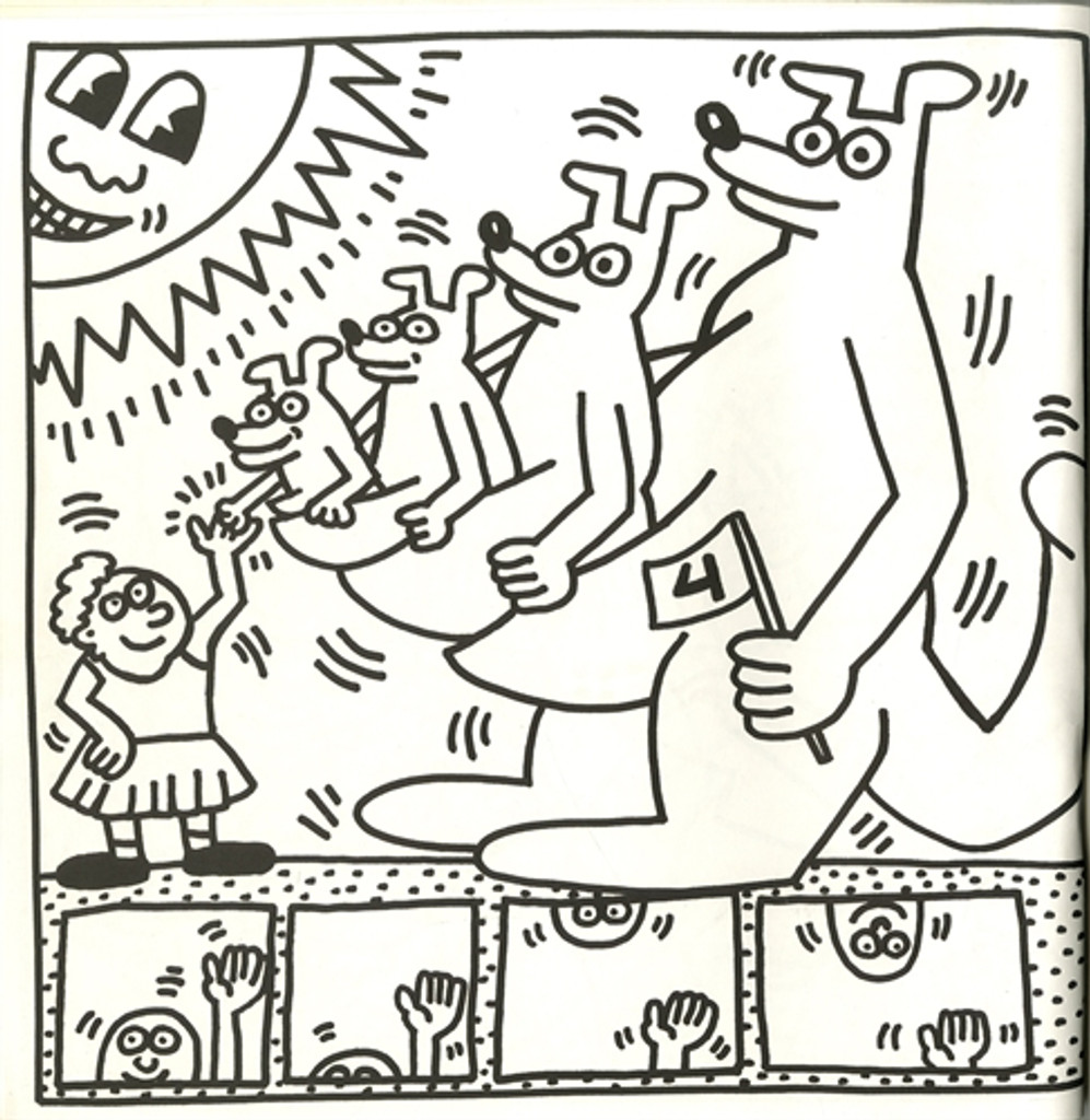 Keith Haring 20 Lithographs (Coloring Book), 1985, Artists Book, Bound Very Rare!