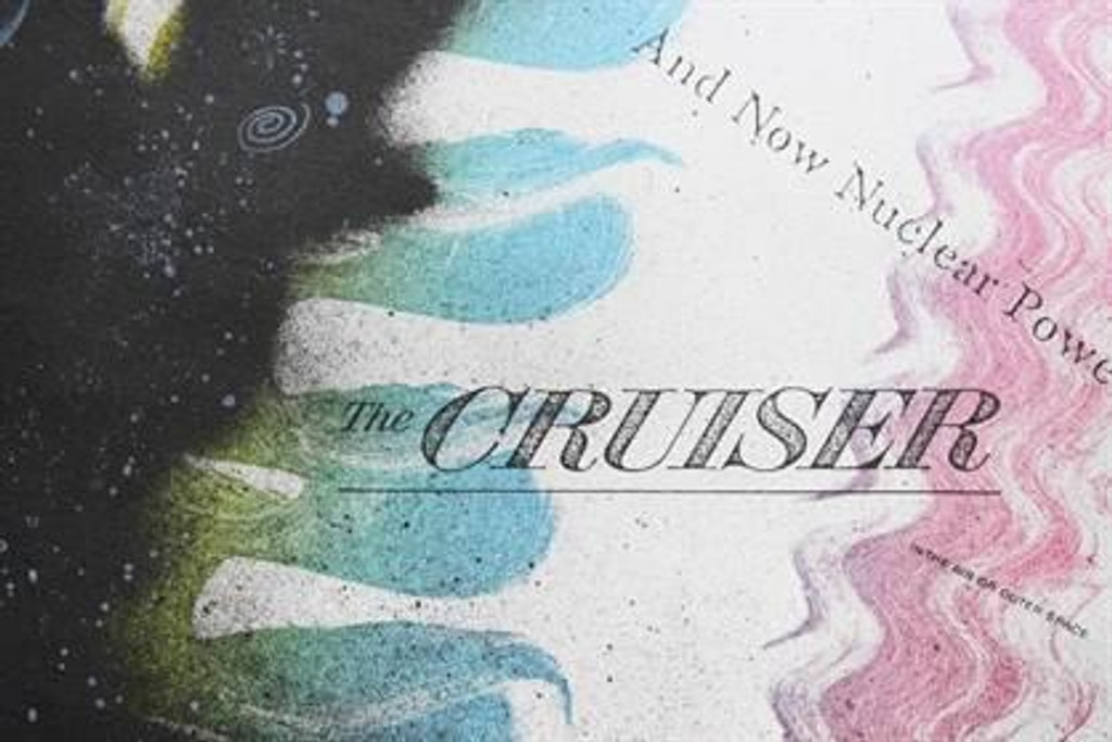 """Ed RUSCHA and Kenny Scharf """"The Cruiser"""" Hand Signed by both Artists"""