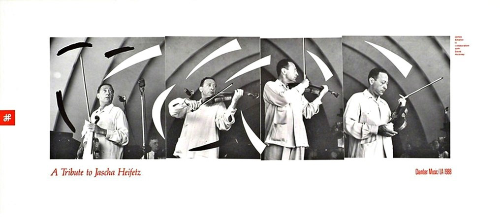 David Hockney, Tribute to Violinist Jascha Heifetz, 1988