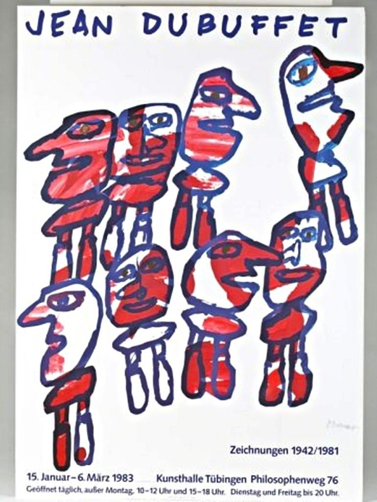 Jean Dubuffet, ZEICHNUNGEN 1942/1981 (SIGNED POSTER), 1983