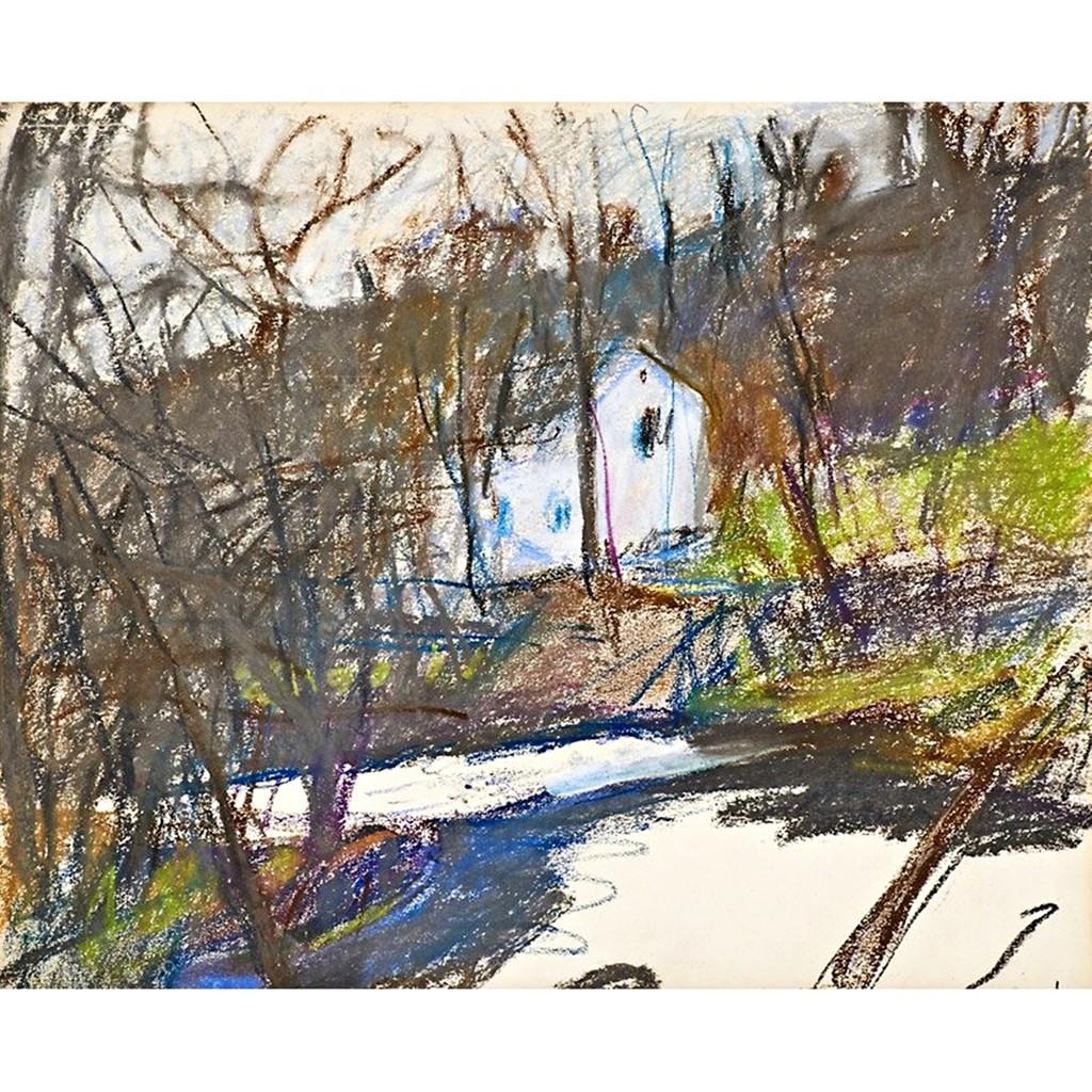 Wolf Kahn, Untitled Fall Landscape, ca. 1980