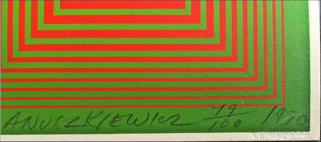Richard Anuszkiewicz, GRANDEUR (from Inward Eye Series), 1970
