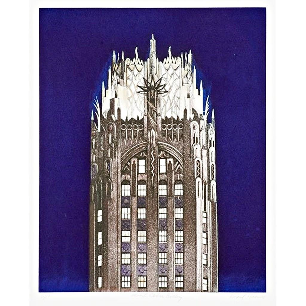 Richard Haas, General Electric Building (Blue), 2005