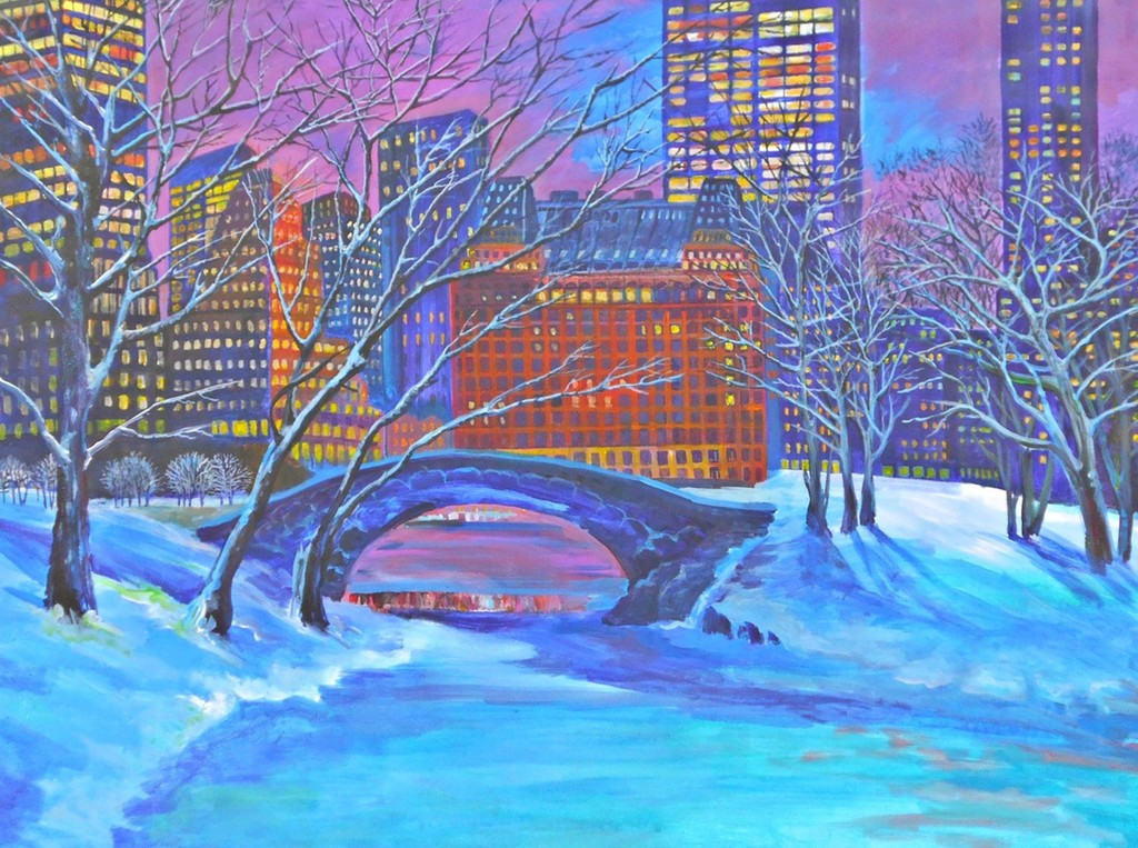 Thelma Appel, Night Snow in Central Park, 2013