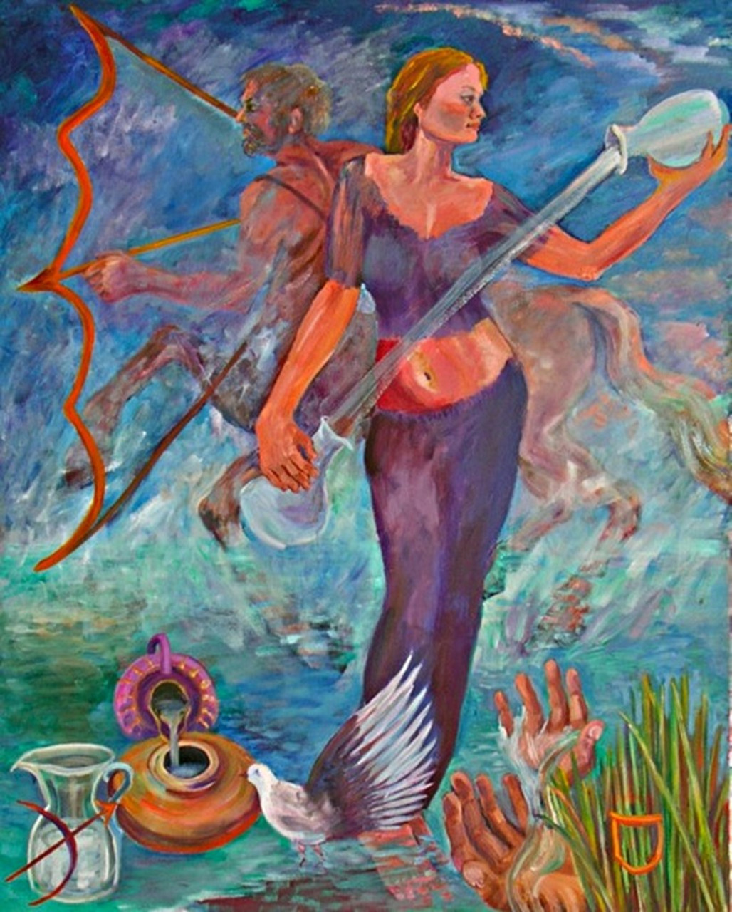 Thelma Appel, TEMPERANCE from the Journey of the Tarot Series, 2009