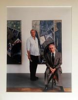 Hans Namuth, Jasper Johns and Leo Castelli, ca. 1985
