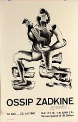 Ossip Zadkine, Galerie Im Erker Exhibition (Hand Signed), 1961