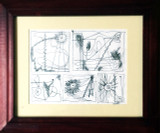 William Baziotes, Untitled ink drawing, ca. 1955 with COA from Baziotes Estate