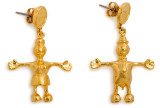 Tom Otterness, Gold-Plated Earrings, ca. 1995