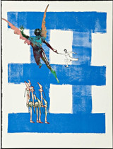 NANCY SPERO, Airborne from Exit 8, Mixed Media: Silkscreen with collage on Somerset velvet paper